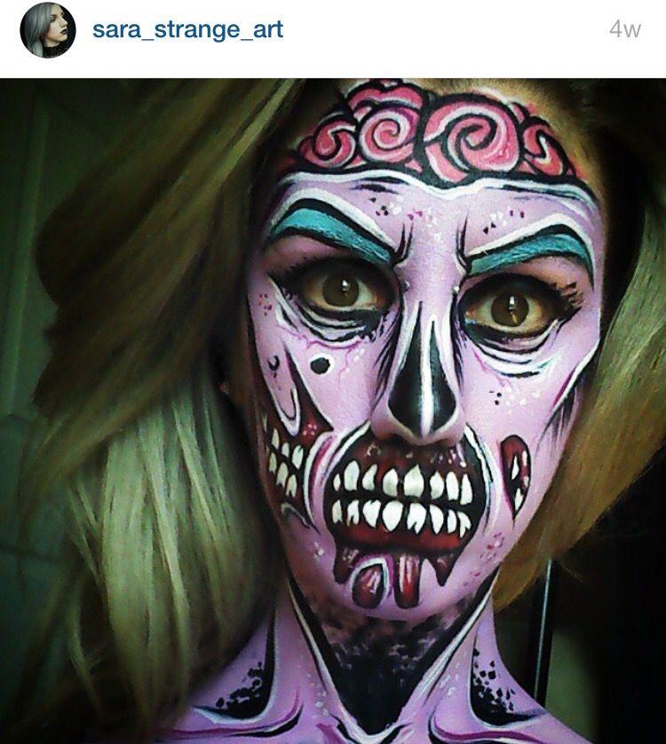 Pop art zombie special effects makeup Pinterest Pop art zombie - zombie halloween ideas