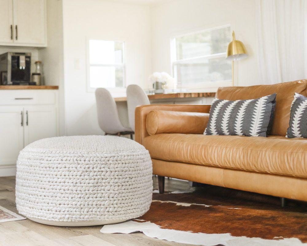 Living Room Pouf, Poufs For Living Room