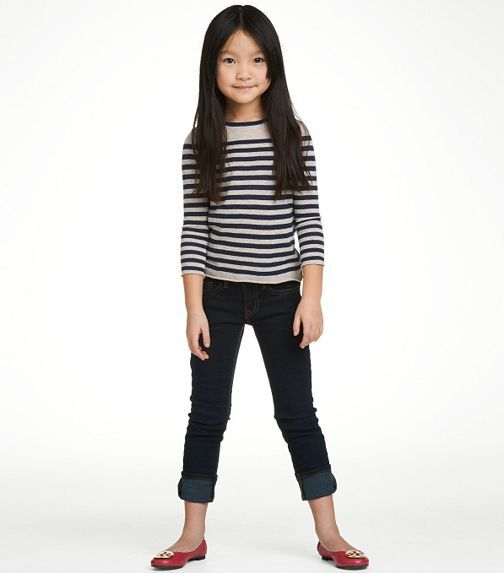 I Want This Little Girl S Look But In Adult Size Nautical Stripes