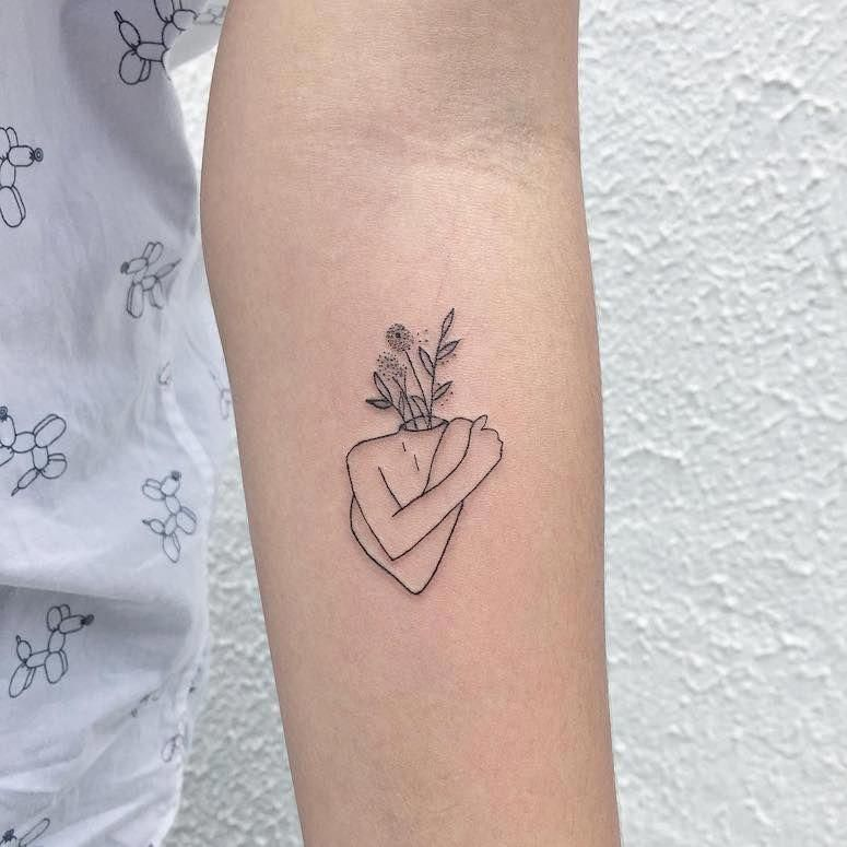 I Genuinely Fancy The Colors And Shades Outlines And Depth This Is Definitely An Awesome Concept If Y Minimalist Tattoo Tattoos Tattoos For Women