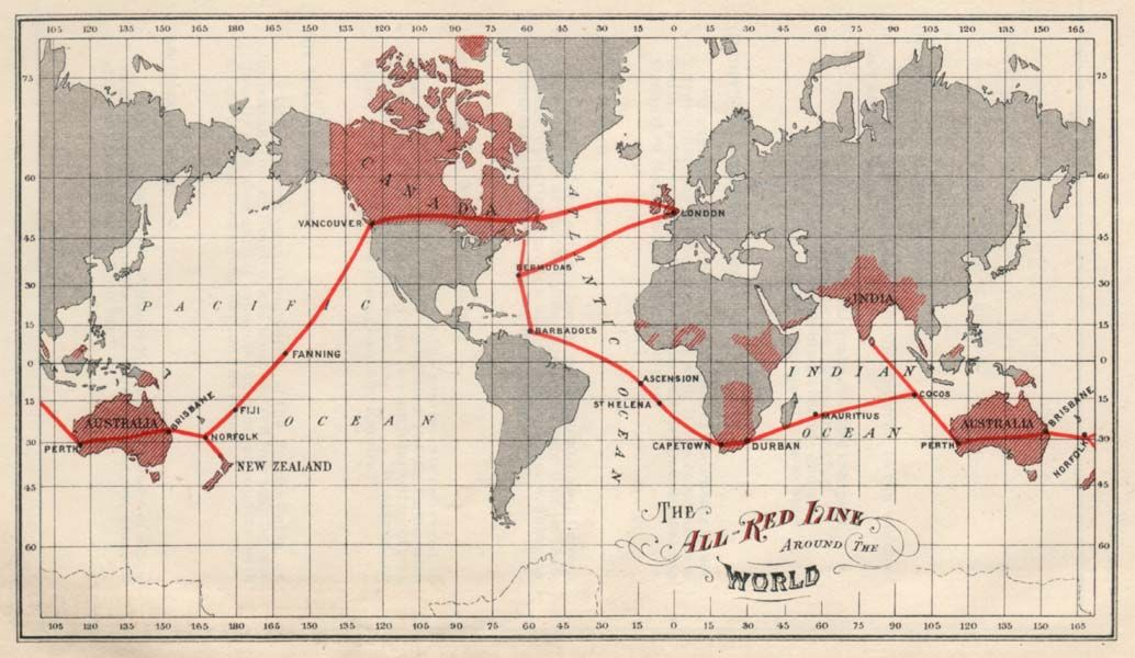 Humanitys War On Latency Semaphore To Silicon Photonics And - Us empire map pacific