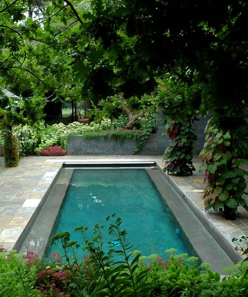 Great concealed pool cover.   Great Pool Covers   Garden pool ...