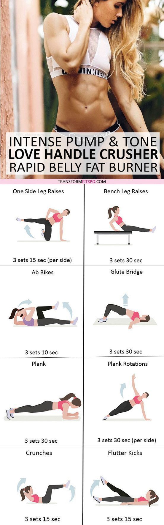 Pump and Tone Love Handle Crusher Prepare to Burn That Belly