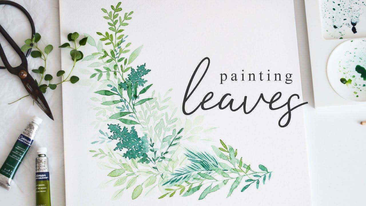 Painting Leaves In Watercolor By Shayda Campbell Video 13 55min