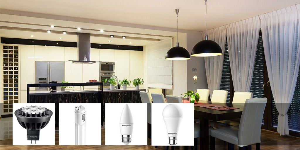 LED Downlights GLS Candles Tubes At LightOnline The Lighting - Led tube lights for kitchen ceiling