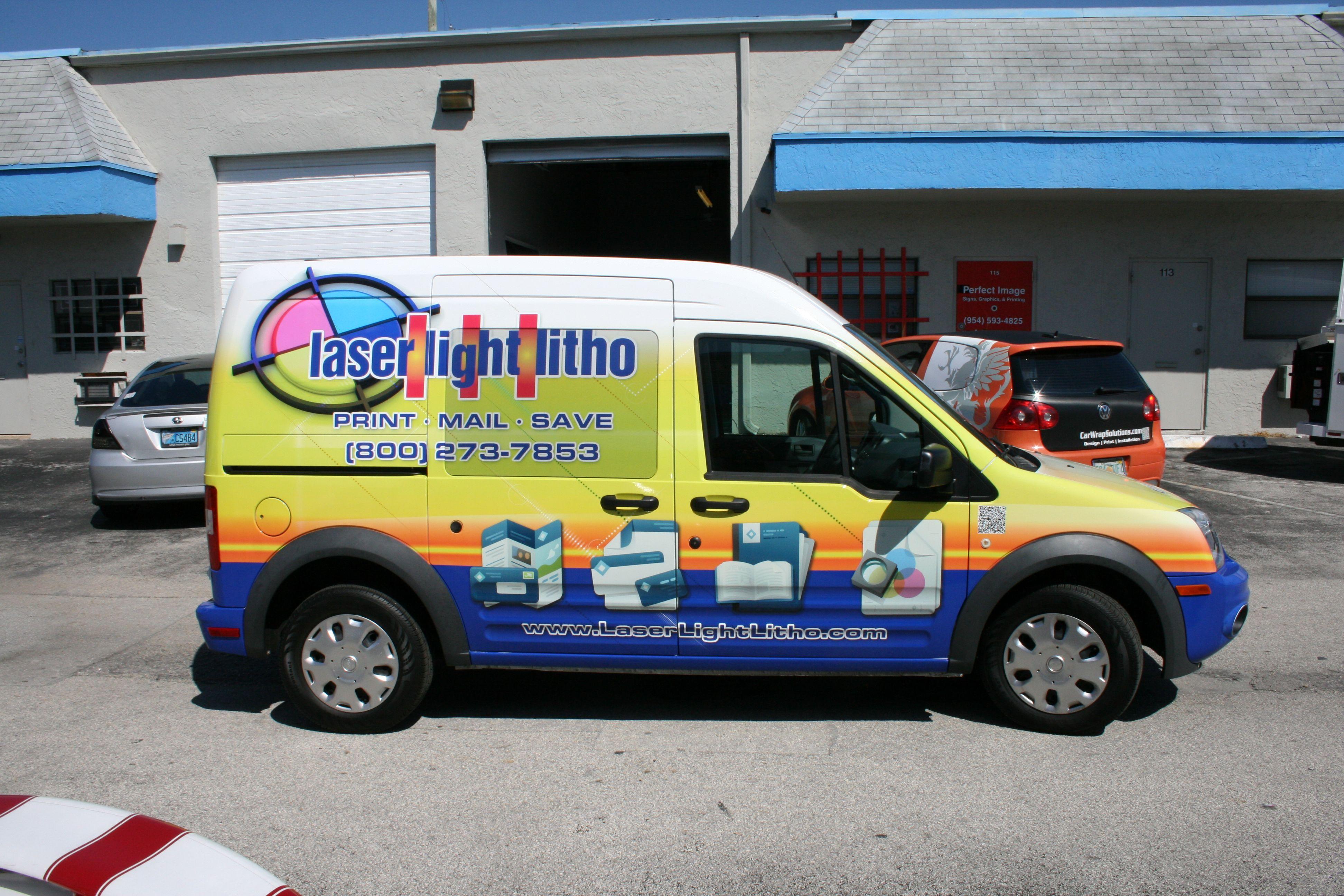 Ford Transit Connect 3m Vinyl Cargo Van Vehicle Wrap Miami Florida