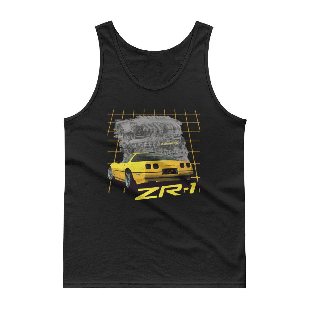 1990 Yellow Corvette ZR1 C4 Tank top Chevrolet corvette