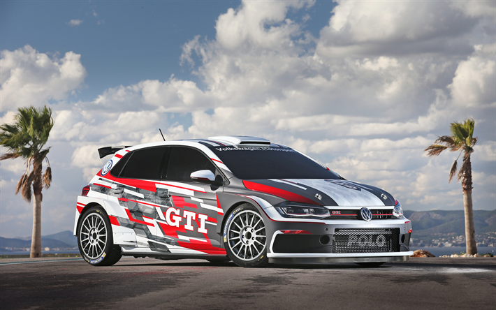 Download Wallpapers 4k Volkswagen Polo Gti R5 Raceway 2018 Cars