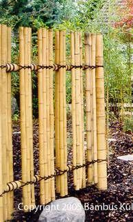 Bamboo Fence Cercas Creativas Pinterest Bambus Zaune Und Garten