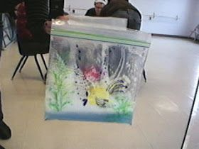 Ziploc Baggie Aquarium for Rainbow Fish Play