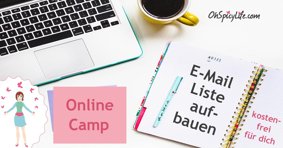 """""""Wie du deine E-Mail Liste auf smarte Weise aufbaust"""" Online Camp - damit die Besucher bei dir Schlange stehen, um sich eintragen zu können."""