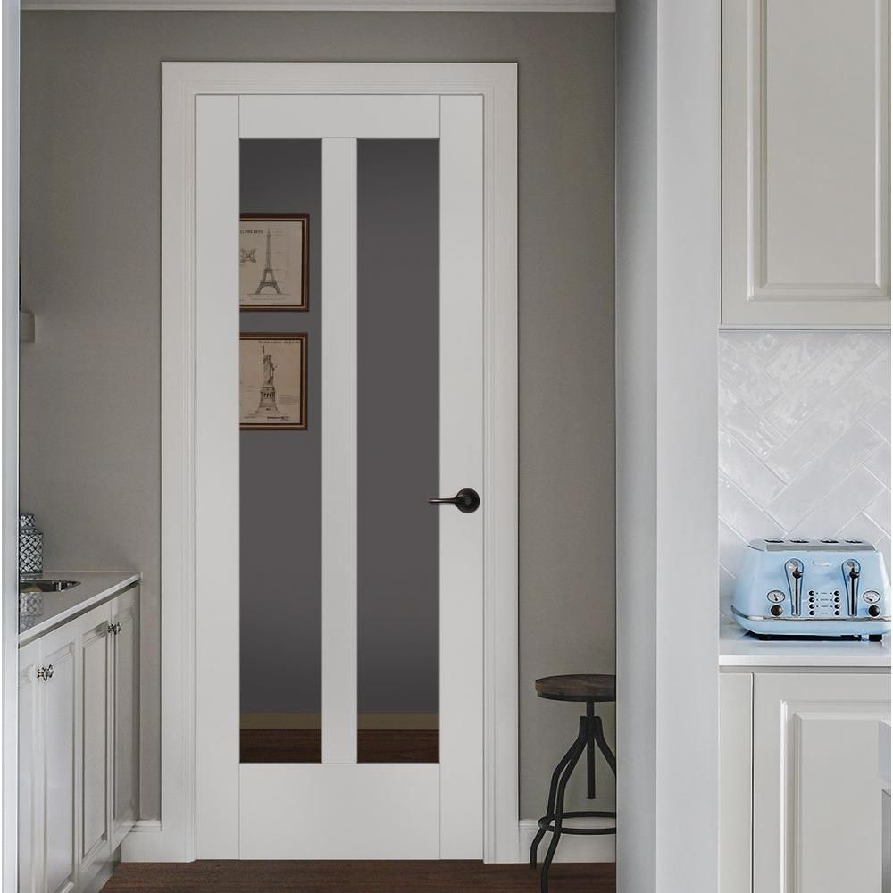 Jeld wen 32 in x 80 in moda primed white 2 lite solid core wood jeld wen 32 in x 80 in moda primed white 2 lite solid core wood interior door slab with clear glass panel planetlyrics Images