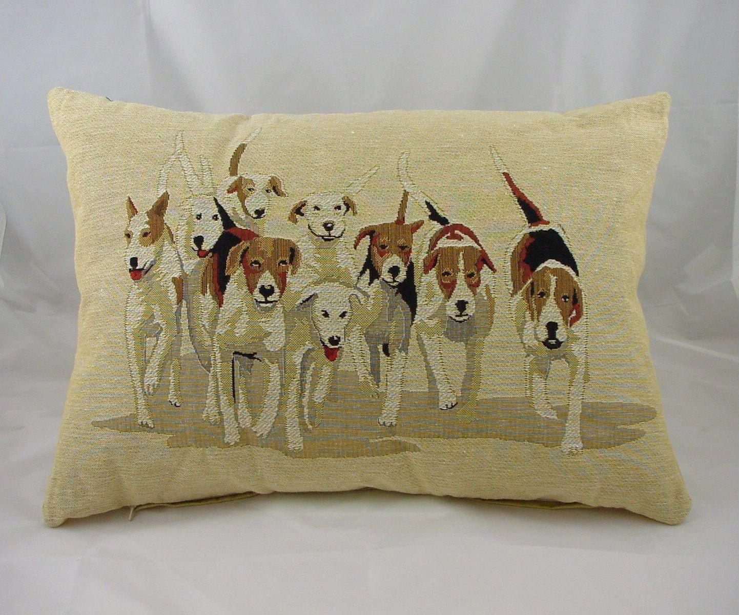 Jagdhunde Jagd Hunde Belgisch Gewebtes Gobelin Kissen Evans
