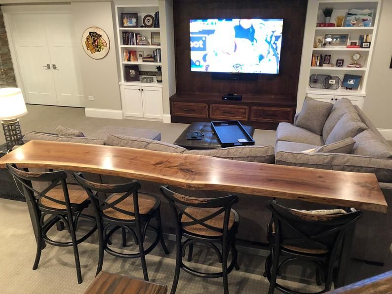 Live Edge Bar Table Black Walnut Home, Bar Table For Basement