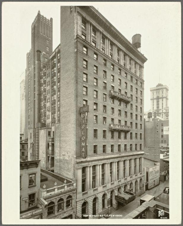 108 166 W 43rd Street Near Sixth Avenue Hotel Diplomat Began
