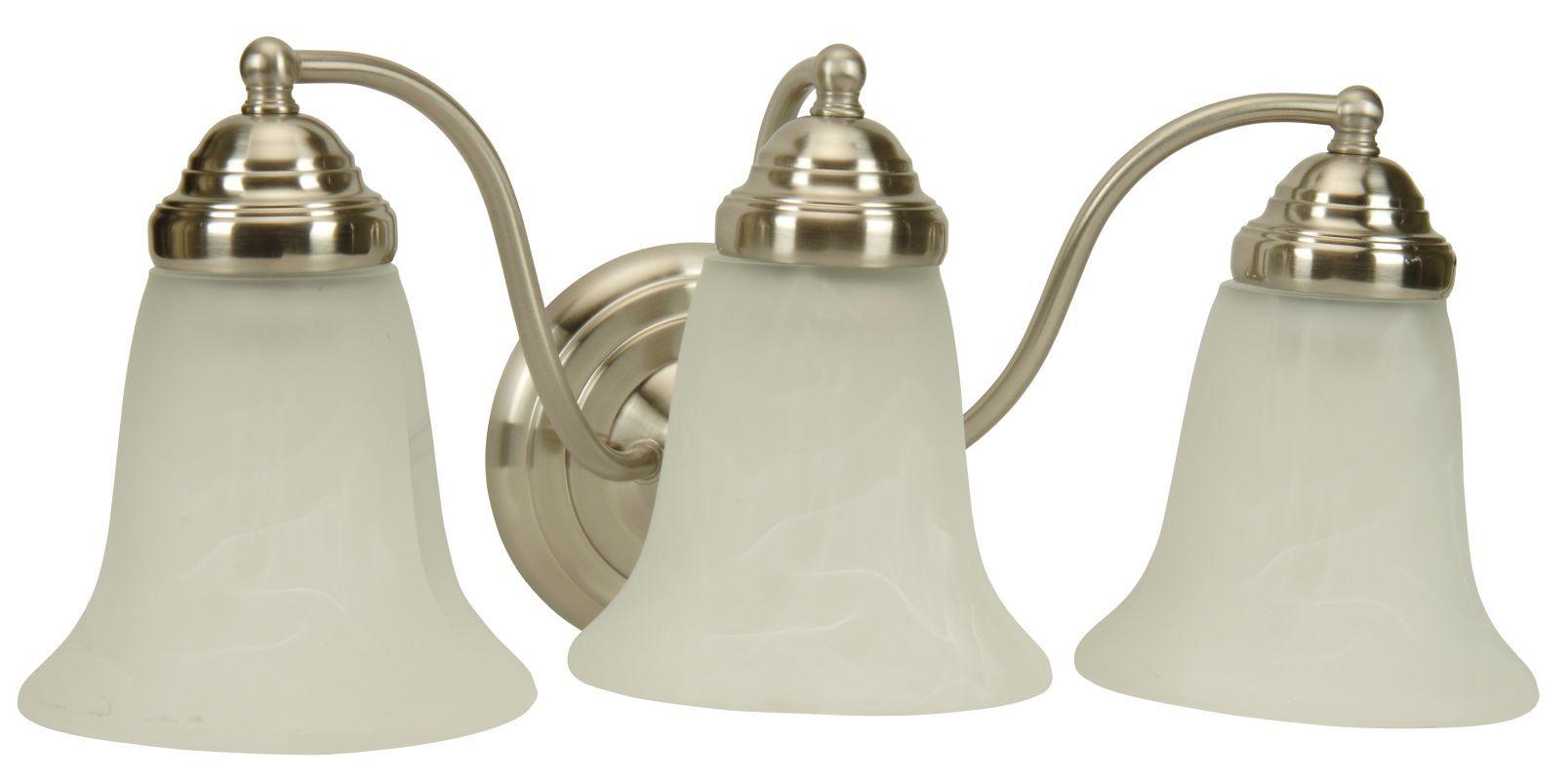 "Photo of Craftmade 15318BN3 Brushed Nickel Cathryn 18 ""Wide 3 Light Bathroom Vanity Light"