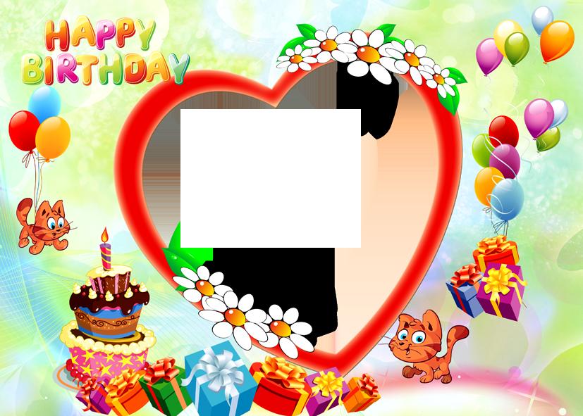 happy birthday photo frame png free