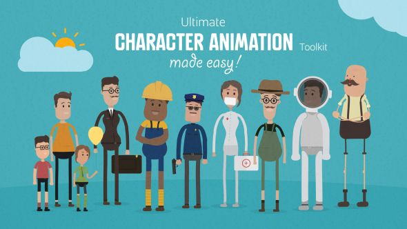 Ultimate Character Animation Toolkit O After Effects Template See It In