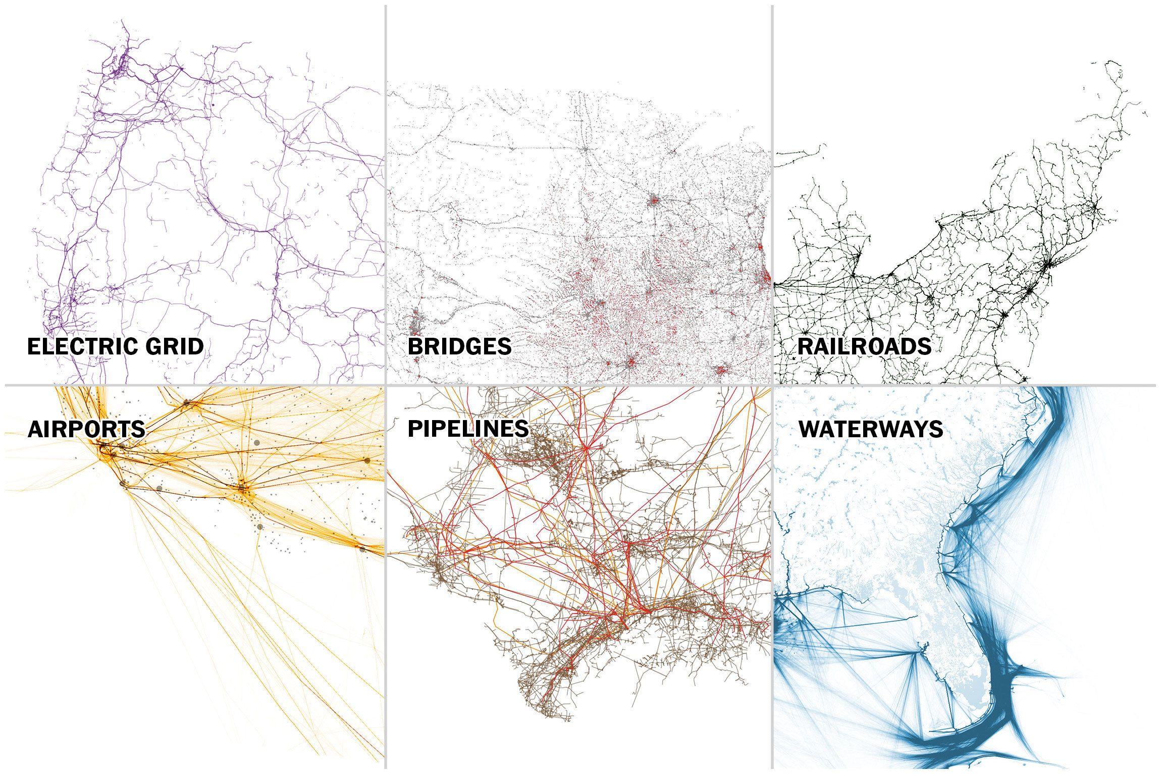 Six maps that show the anatomy of America's vast