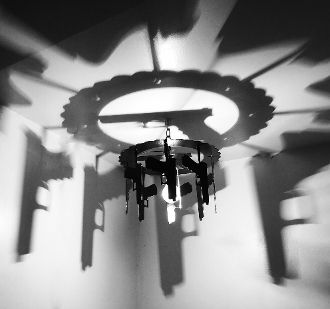 Perfect for gun owners supporters of the 2nd amendment introducing the hanging gun shadow light that casts a shadow on your ceiling one of a kind gift wow factor lighting mediapolis mozeypictures Images