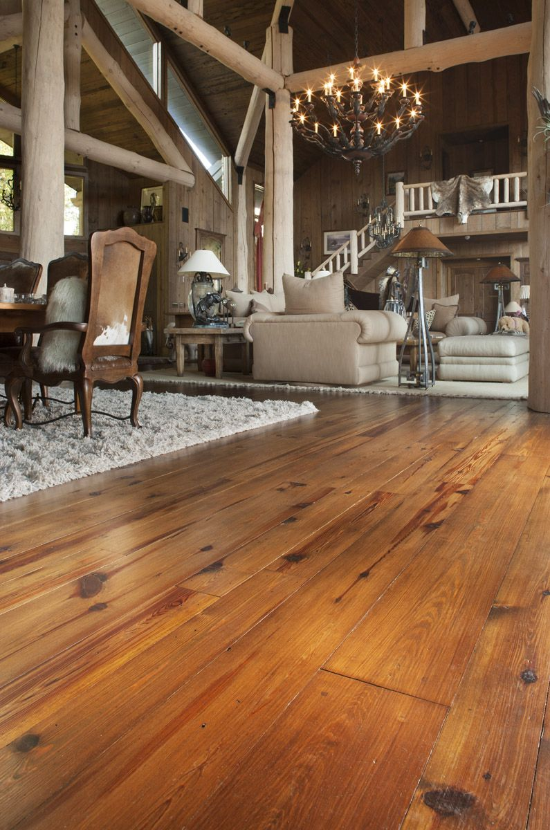 Antique reclaimed wood flooring  Heart Pine, cabin grade, in our Carolina  Classic