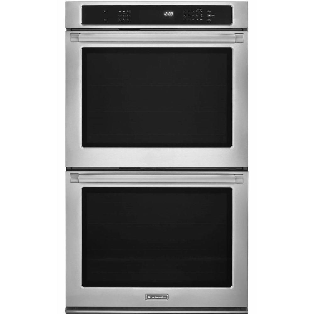 Kitchenaid pro line series 30 in double electric wall