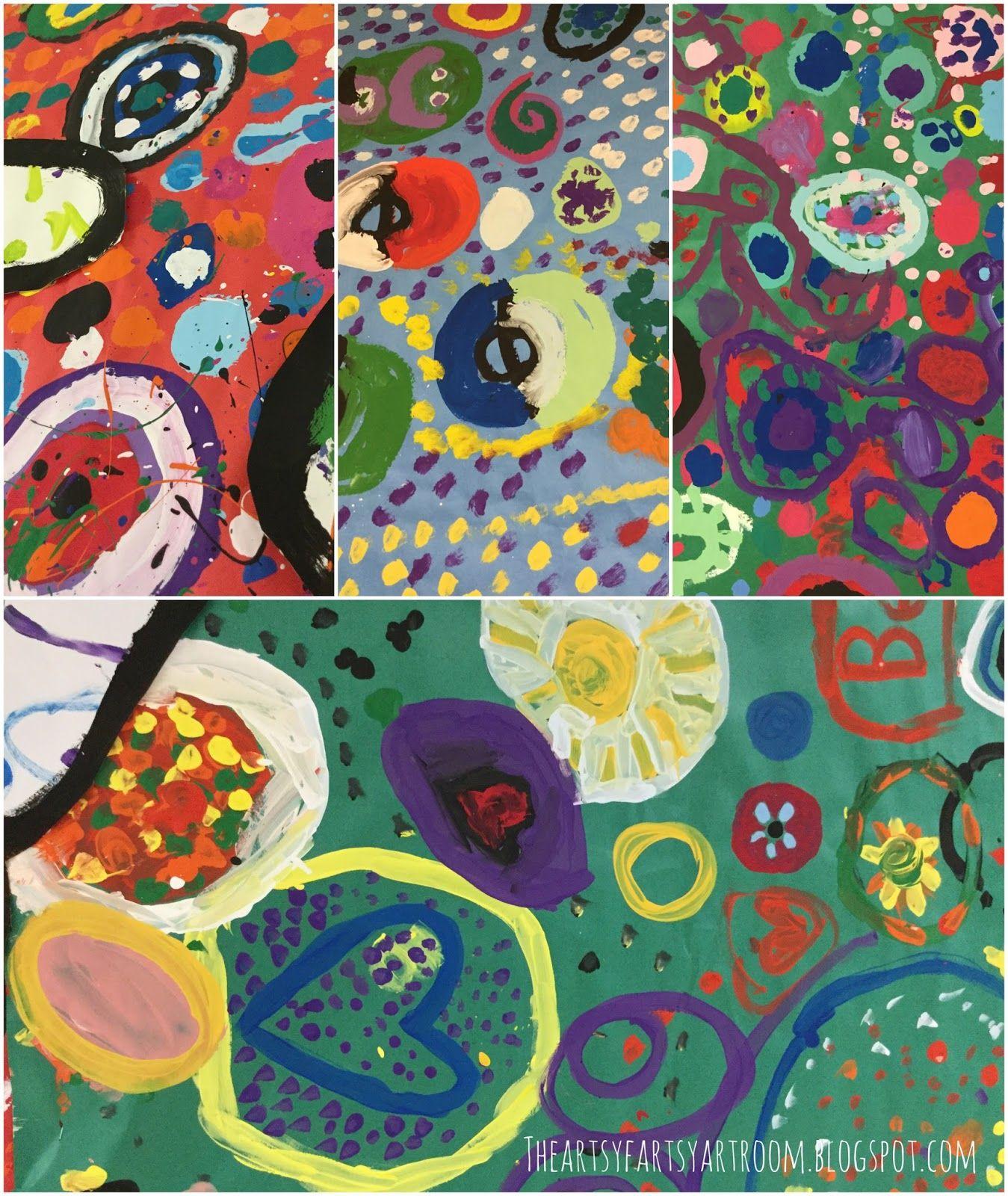 Collaborative dot paintings dot day do a dot dot painting