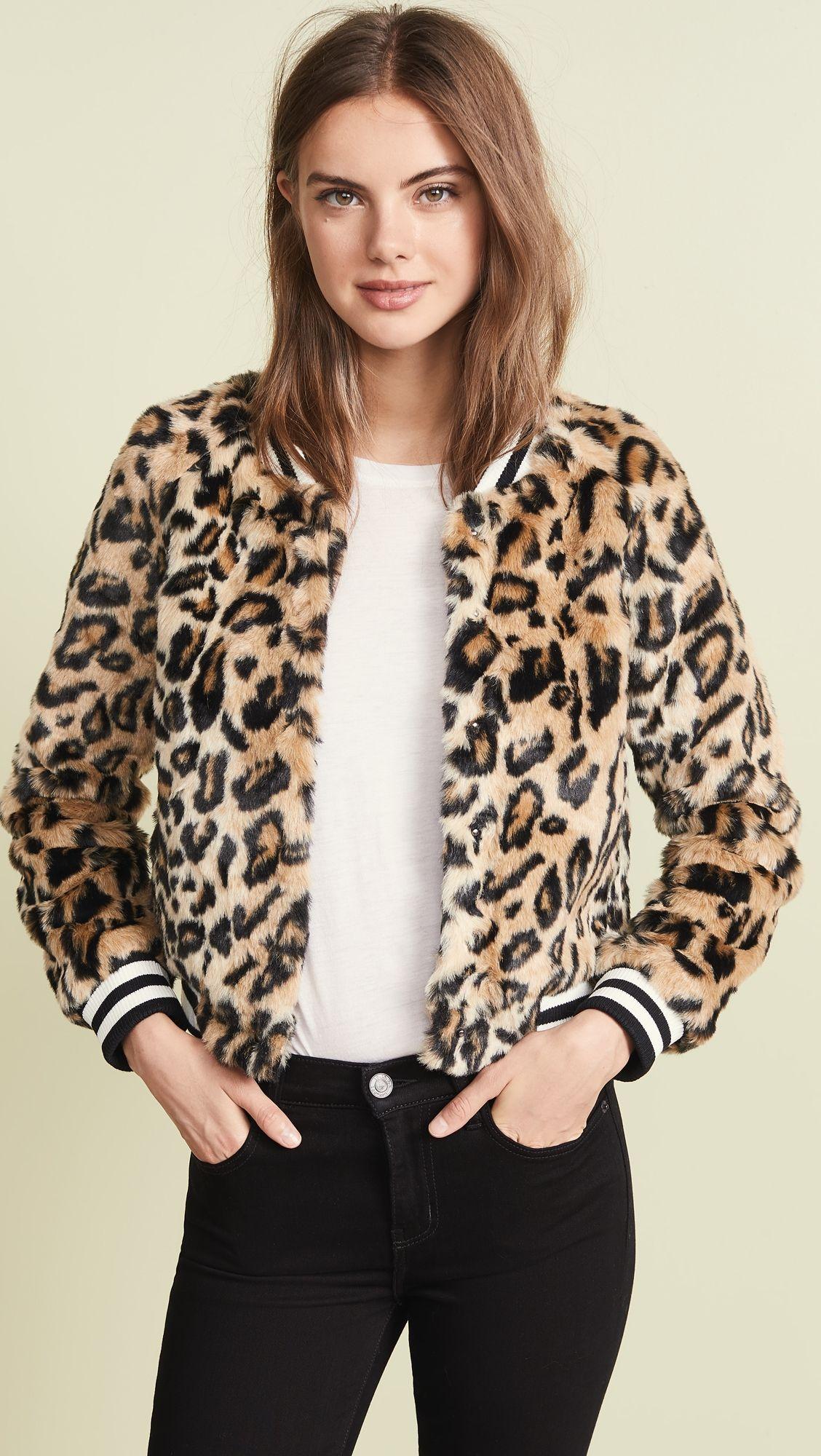Dakota Bomber Fur 2019 Bb Leopard In Girl Clever Faux Jack By LSzpGMVqU