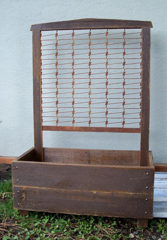 Planter Box Rustic Hand Crafted Via Etsy Would Be Great For Sweet Peas Planter Boxes Planter Box With Trellis Planters