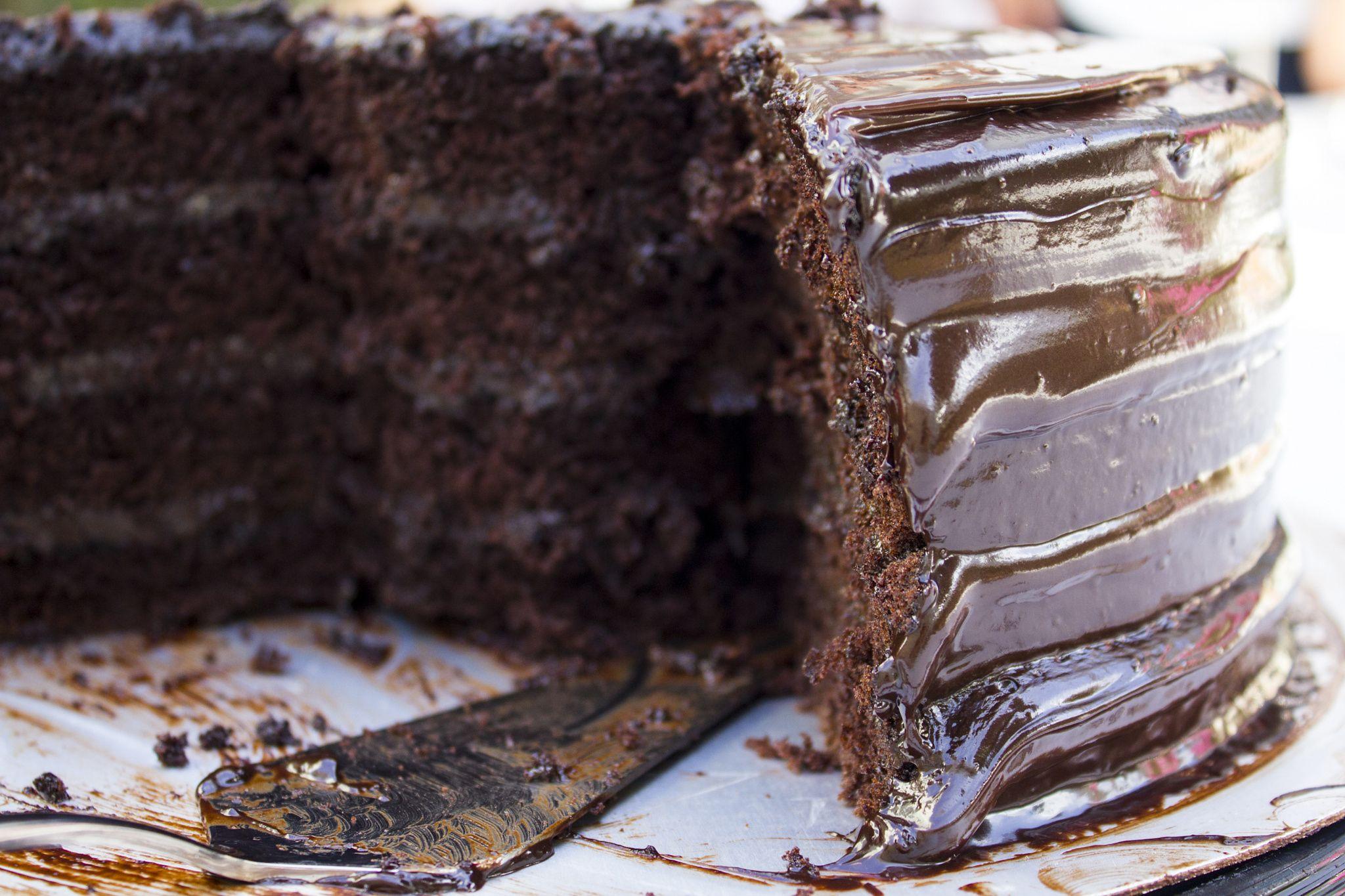 Chocolate cake. Pastel de Chocolate.