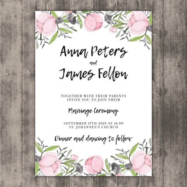 Pin by shannon smith on until the 12th of never pinterest wedding invitation template floral wedding invitation template on wood vector thecheapjerseys Gallery