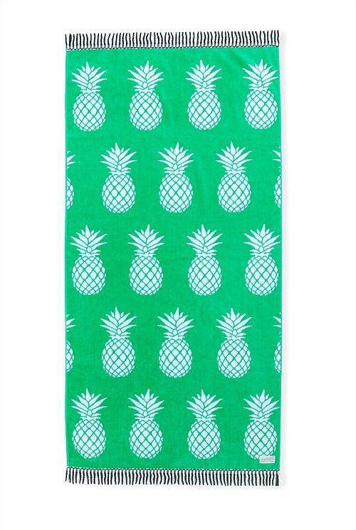 Pineapple Print Beach Towel Country Road Pineapple