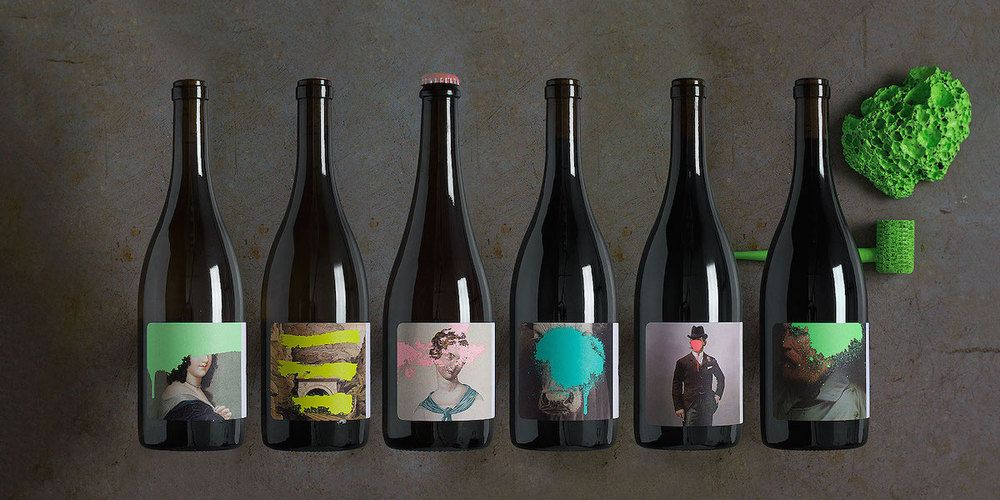 Just like graffiti is an edgy form of artistic expression, these bottles  for Cruse Wine Co. are adventurous and new. Designed by Force & Form, the  wines combine classical works with splashes of bright colors, giving off a  fresh, youthful attitude.
