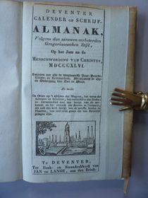 Almanakken; Deventer Calender of Schrijfalmanak - 1846