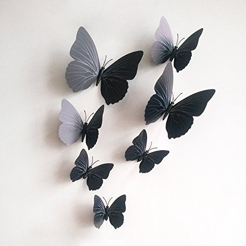 12pcs 3D DIY Butterfly Design Art Decal Wall Stickers Home Room Decor Removable#