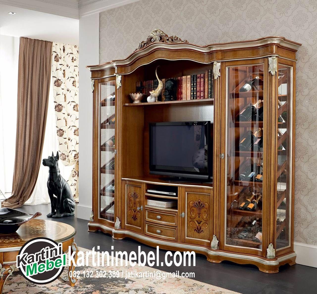 Kami Kartini Mebel Jepara Menawarkan Harga Bufet Tv Kayu Jati  # Vitrines Television En Bois