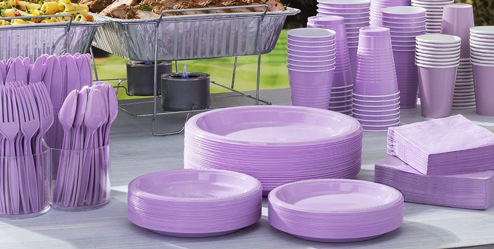 Lavender tableware lavender party supplies party city