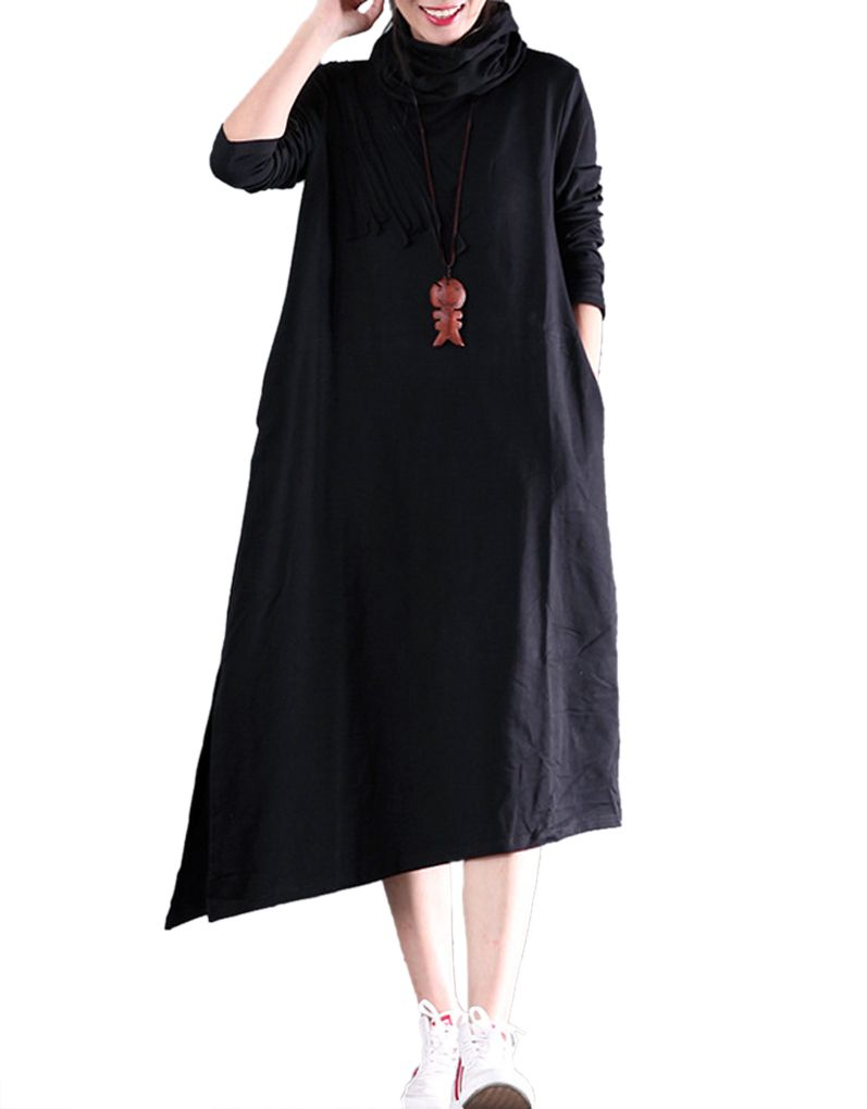 Highneck irregular dress korean style cuisine and more