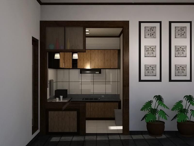 Desain Dekorasi Ruang Dapur Minimalis  Tampak Depan