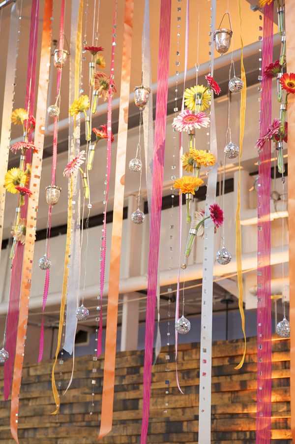 Decoration Ribbon Curtain With Flowers And Beads Sp But Delicately Pretty