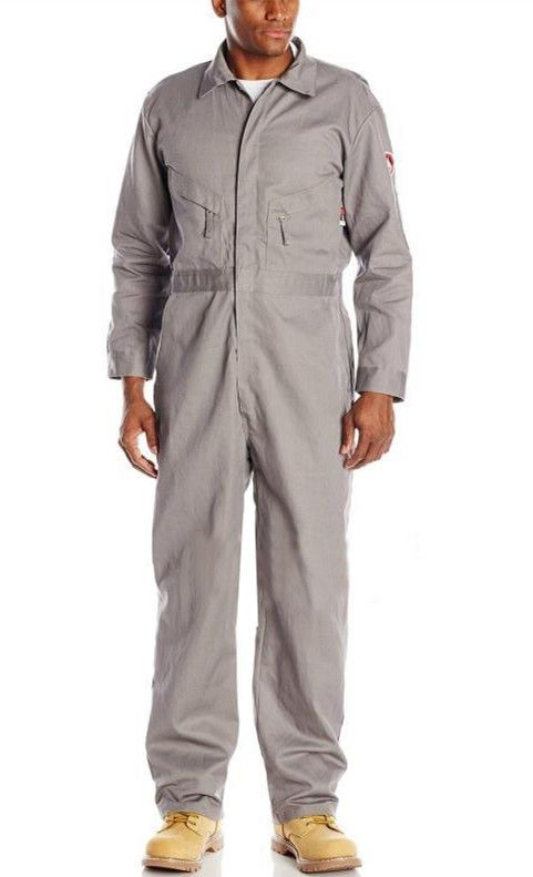 Grey Cotton Coverall Labour Suit Work Cloths Fatigue Dress Dungaree
