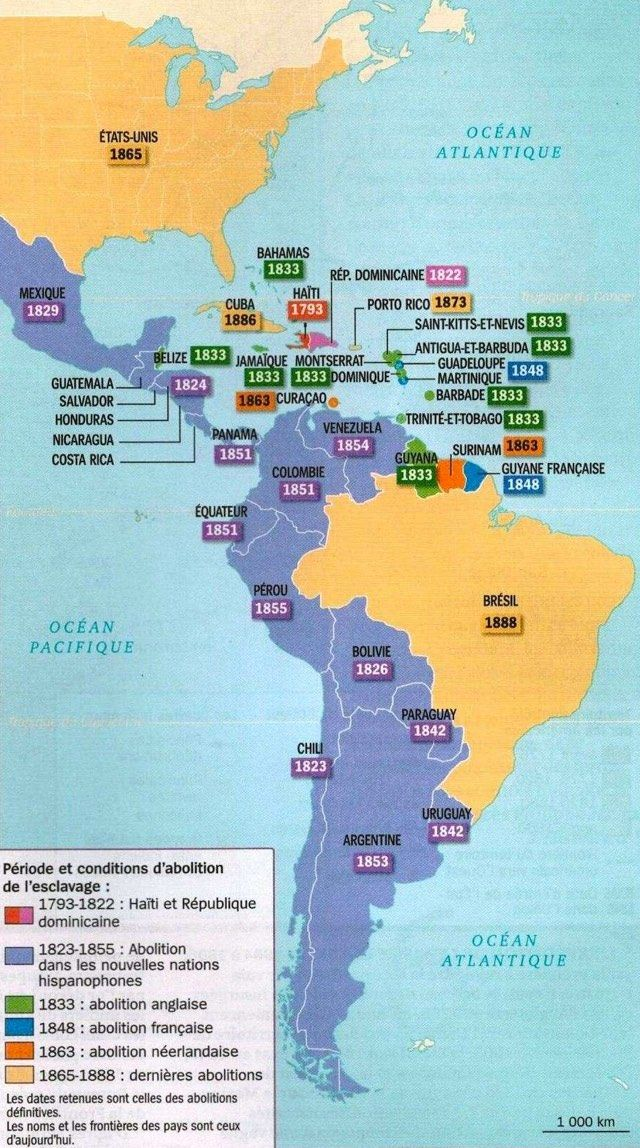 Timelinemap Of Slavery Abolition In The Americas US PR - Puerto rico and us map