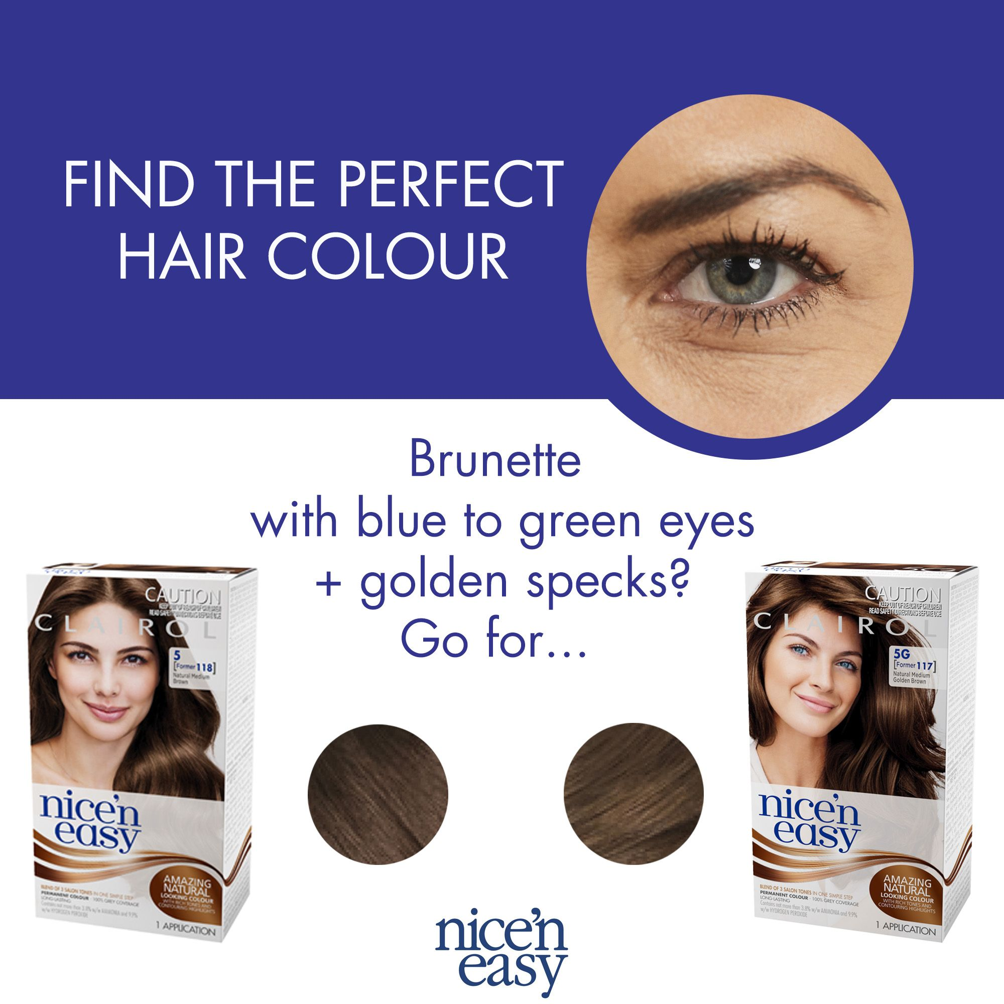 Hair Hack Are You A Brunette With Blue To Green Eyes Look For