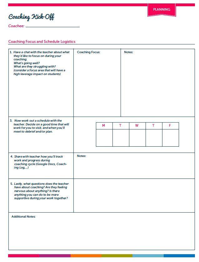 Instructional Coaching Tools u2026 Pinteresu2026 - coaching plan template