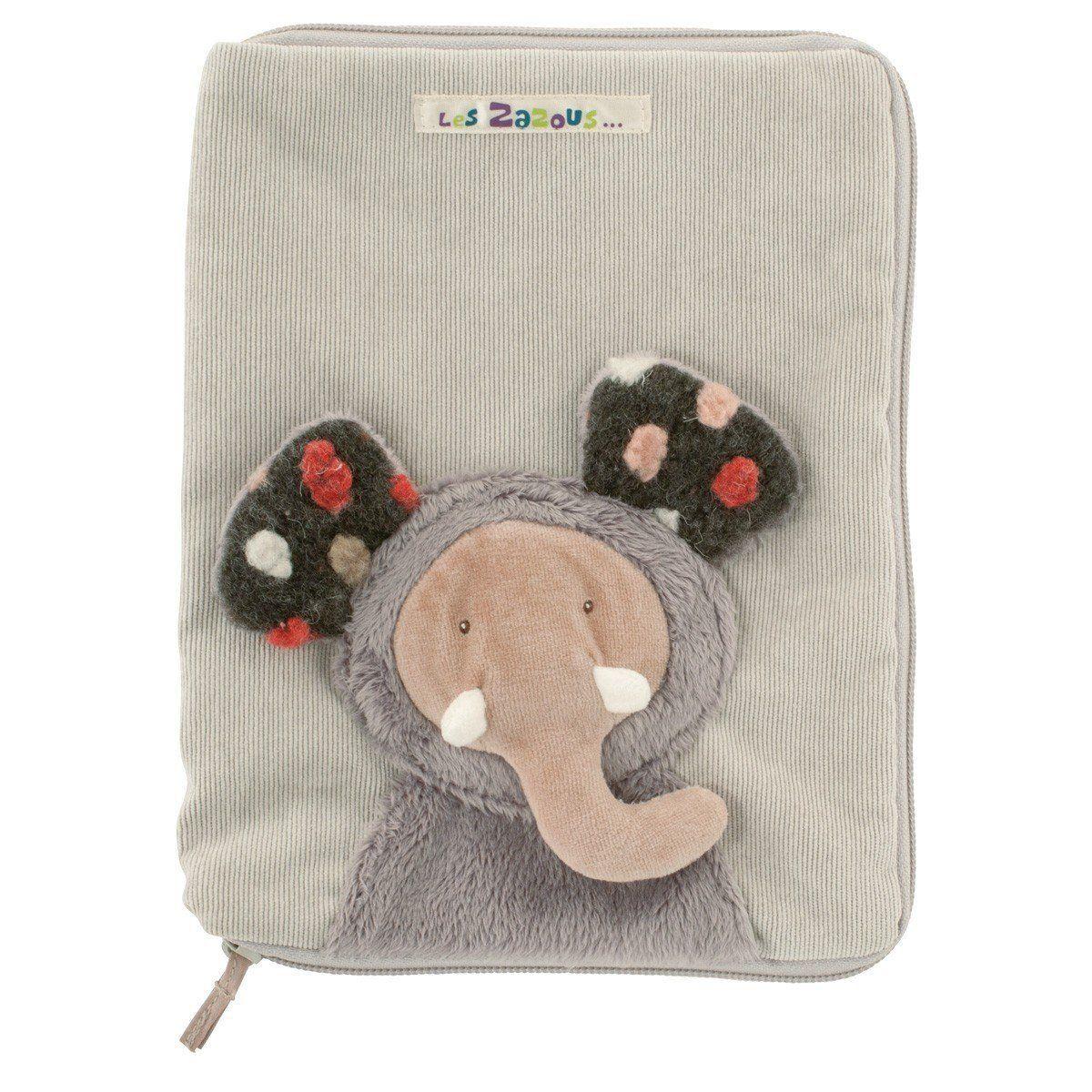 Un protège carnet de #santé rigolo et tout doux pour prendre soin des affaires de bébé. #protègecarnetdesanté #protègecranet #toilette #éléphant #leszazous