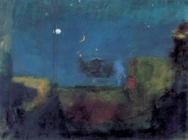 Oluf Høst, Night at the harbour, 1935, Courtesy the Oluf Høst Museum.