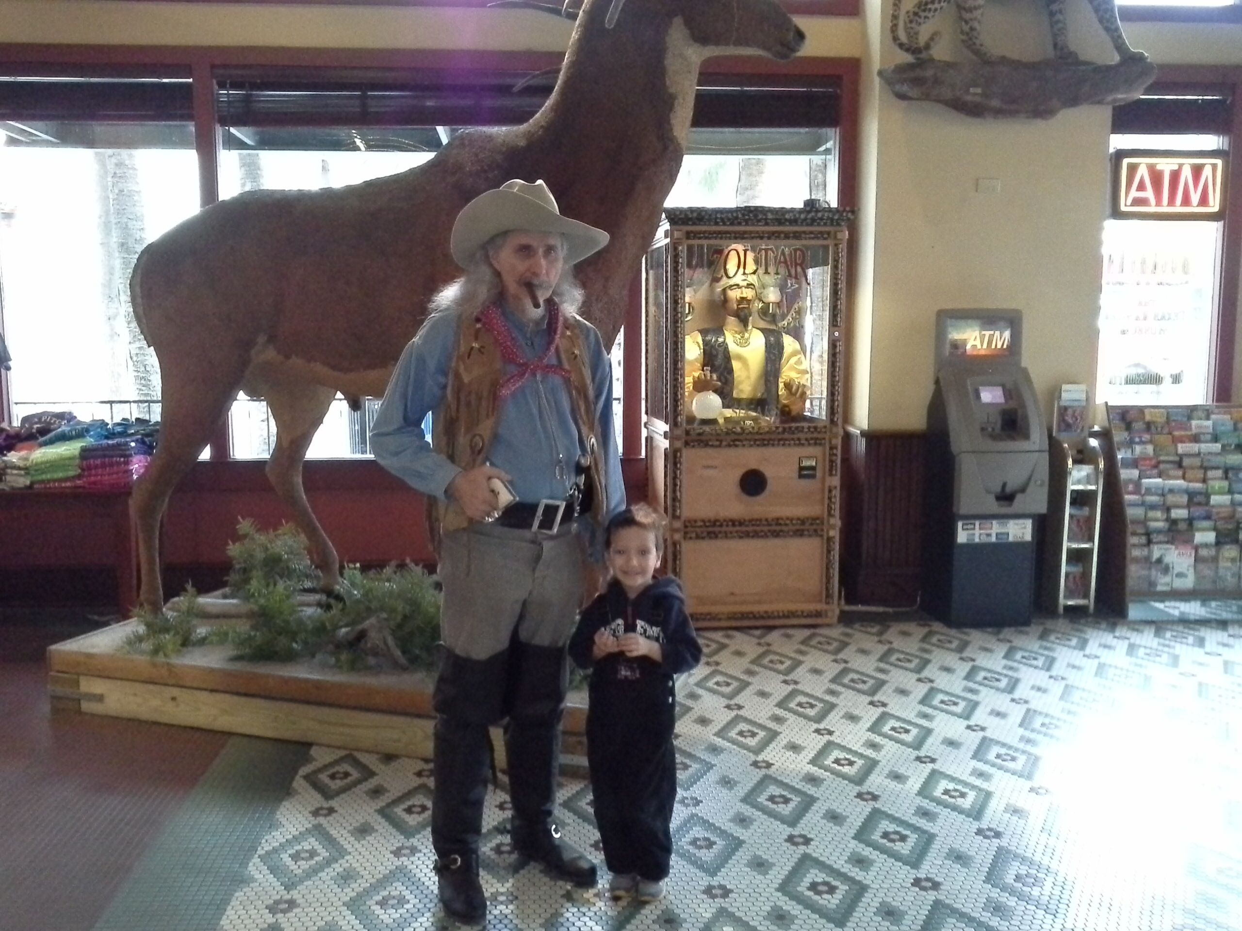 Teddy at the Texas Ranger Museum in San Antonio #familytravel