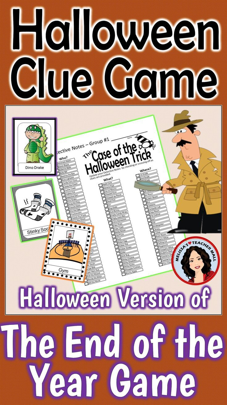 Halloween Game Whole Class Mystery Game Activity |