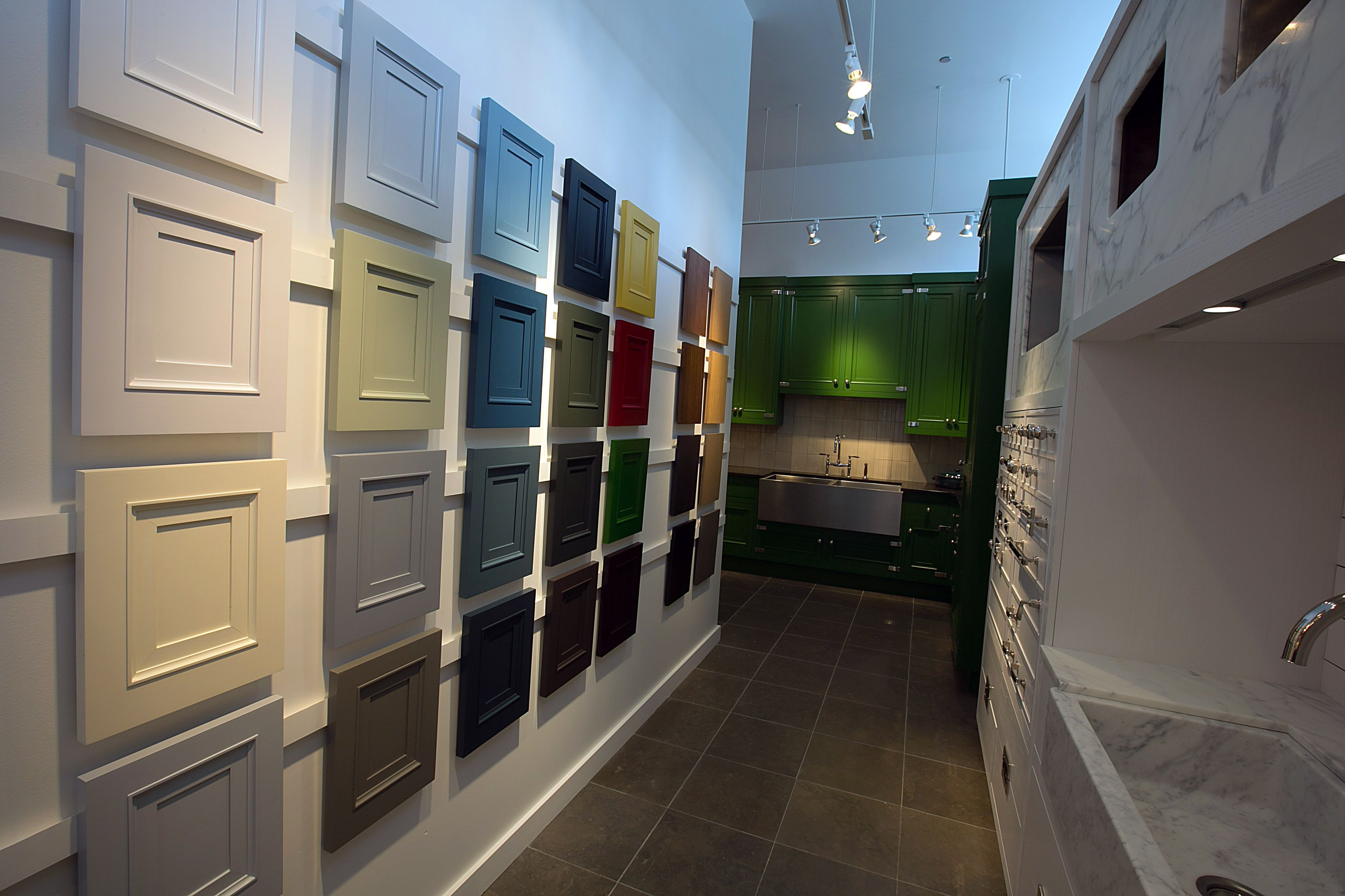 Kitchen Cabinet Showrooms Storage Sets For Waterworks Color And Wood Species In