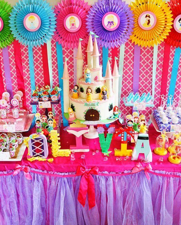 Decoración de Fiestas Infantiles de Princesas Disney . A las niñas ...